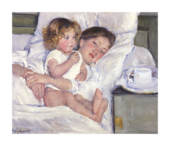 Breakfast In Bed Fine Art Print by Mary Stevenson Cassatt