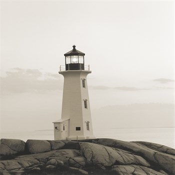 Peggy's Cove Light Canvas Print by Michael Kahn