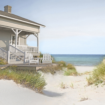 Coastal Retreat - Abode Print by Mark Chandon