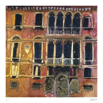 Ancient Facade, Venice Print by Susan Brown