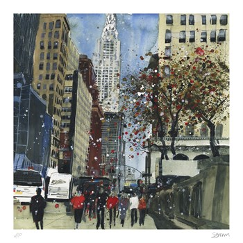 First Glimpse of the Chrysler Building, New York Fine Art Print by Susan Brown