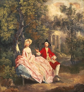 Conversation dans un Parc Fine Art Print by Thomas Gainsborough