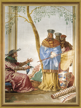 The Chinese Prince and Fortune Teller Print by Giovanni Domenico Tiepolo