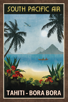 South Pacific Air Print by Collection Caprice