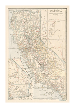 California Fine Art Print by The Vintage Collection