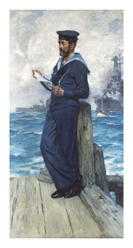 A Sailor From HMS Invincible Fine Art Print by Arthur McCormick