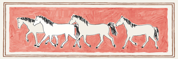 A Band of Horses Print by Kristine Hegre
