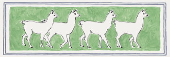 A Band of Llamas Print by Kristine Hegre