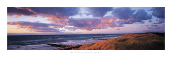 Sunset Beach Print by Bent Rej