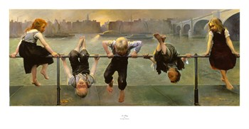At Play Print by Dorothy Tennant