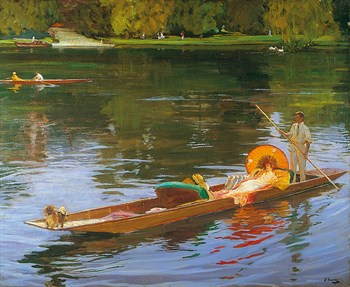 Boating on the Thames Print by Sir John Lavery