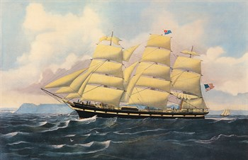 Clipper Ship 'Ontario' Print by Anonymous