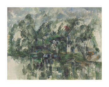 At the Water's Edge Fine Art Print by Paul Cezanne