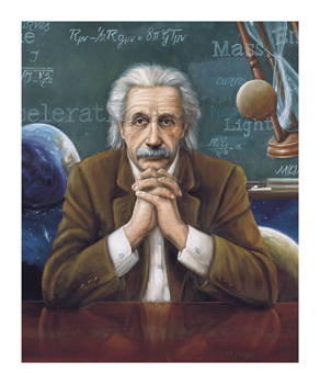 Albert Einstein Fine Art Print by William Meijer