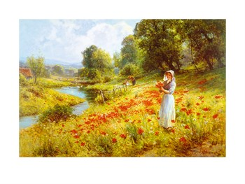Flowers of the Field Print by Ernest C. Walbourn