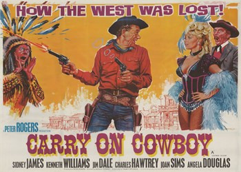 Carry on Cowboy Print by The Vintage Collection