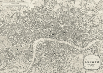 A Plan of London, 1831 Print by Samuel Lewis