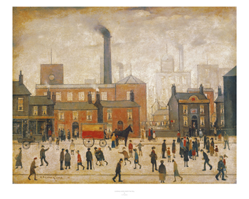 Coming Home From The Mill Print by L.S. Lowry