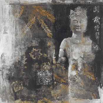 Inner Chi III - Gold Leaf Print by Douglas