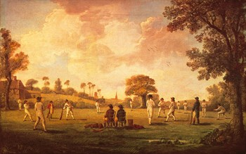 A Game Of Cricket, 1790 Print by Anonymous