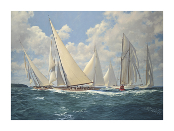 Big Class Astra Rounding the Mark Fine Art Canvas Print by Steven Dews