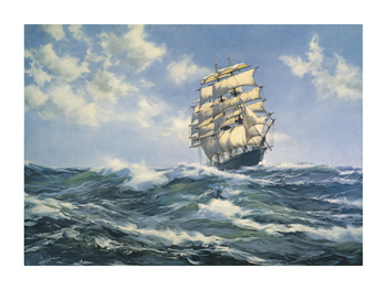 Breaking out the Royals Fine Art Print by Montague Dawson