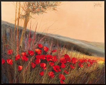 Field of Poppies Print by Gilbert Michaud