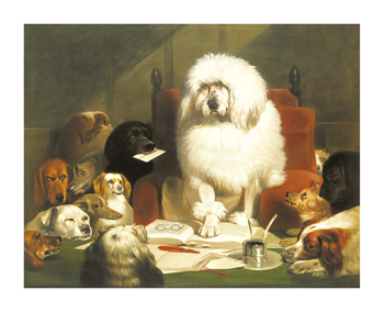 Laying Down The Law Fine Art Print by Edwin Landseer