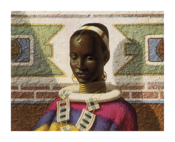 Lady Of Ndebele Fine Art Print by Vladimir Tretchikoff