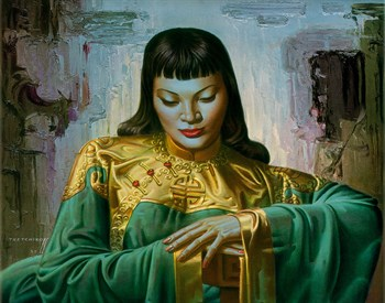 Lady Of The Orient Fine Art Print by Vladimir Tretchikoff