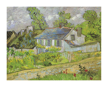 Houses In Auvers Fine Art Print by Vincent Van Gogh