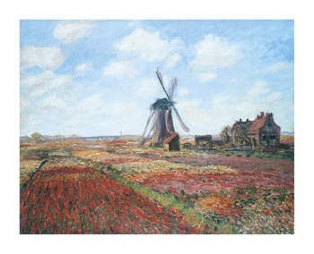 Champs de Tulipes Fine Art Print by Claude Monet