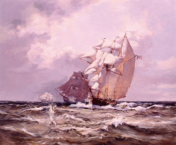 Catch Me Who Can Fine Art Print by Montague Dawson