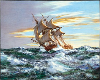Dawn Chase Print by Montague Dawson