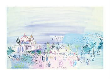 Casino At Nice, 1936 Fine Art Print by Raoul Dufy