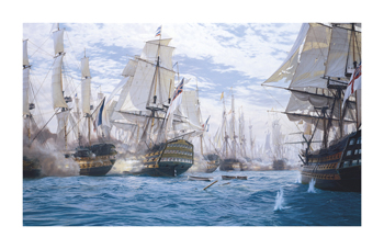 Battle Of Trafalgar Fine Art Print by Steven Dews