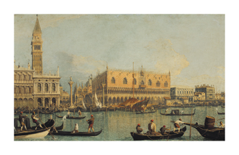 Ducal Palace Venice Fine Art Print by Antonio Canaletto