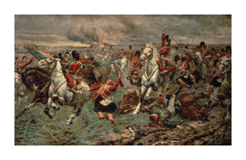 Waterloo Gordons And Greys To The Front Fine Art Print by Stanley Berkeley