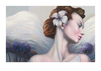 Angel White Fine Art Print by Rachel Deacon