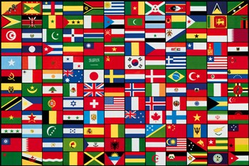 A Collection Of Flags Print by The Vintage Collection