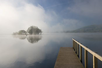 Misty Lake Print by Peter Adams
