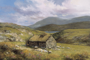 Cottage near Conor Pass Print by Clive Madgwick
