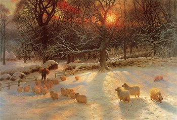 The Shortening Winter's Day Print by Joseph Farquharson
