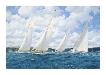 Breezy Start - The Final Two Days of the 1935 Season at Dartmouth Fine Art Canvas Print by Steven Dews