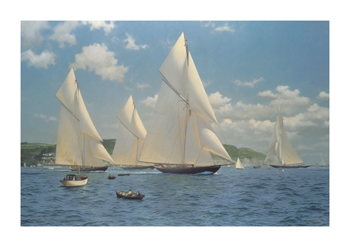 An Opportune Breeze from the South East Fine Art Canvas Print by Steven Dews