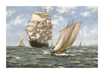 Ahoy! Fine Art Print by Montague Dawson