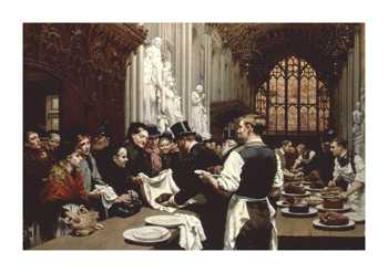 Distributing Left-overs To The Poor after the Lord Mayor's Banquet At The Guildhall, 1882 Fine Art Print by Adrien Marie