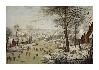 Winter Landscape with a Bird Trap Fine Art Print by Pieter Brueghel the Younger