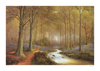 Bluebell Walk Print by Eric Forse
