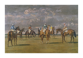 Before the Start Fine Art Print by Sir Alfred Munnings
